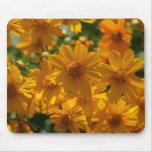 Cojín de ratón amarillo de la flor tapetes de ratón