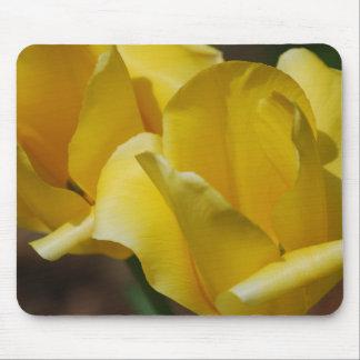 Cojín de ratón amarillo de los tulipanes tapetes de raton