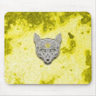 Cojín de ratón amarillo del cráneo del azúcar del tapete de ratón