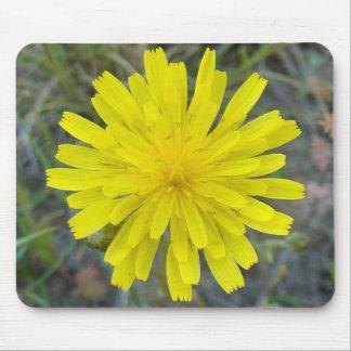 Cojín de ratón amarillo del Wildflower F0016/de re Alfombrilla De Ratones