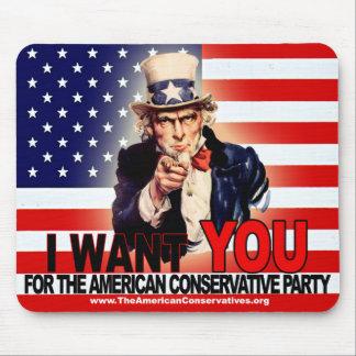 Cojín de ratón americano del fiesta conservador alfombrilla de raton