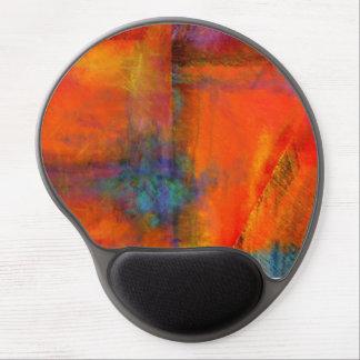 Cojín de ratón anaranjado abstracto del gel de la  alfombrillas con gel