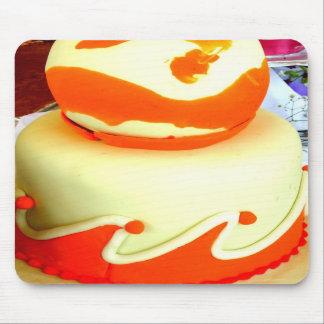 Cojín de ratón anaranjado de la pasta de azúcar tapetes de ratón