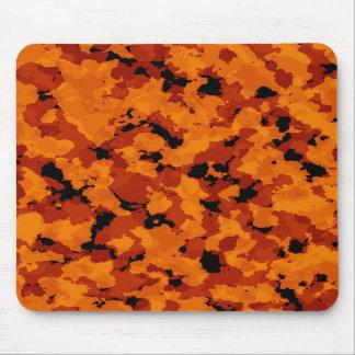 Cojín de ratón anaranjado del camuflaje alfombrilla de ratones
