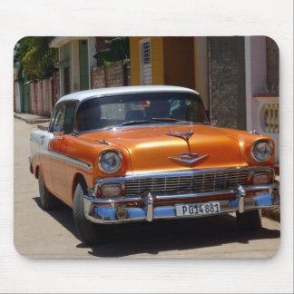 Cojín de ratón anaranjado del coche del vintage alfombrilla de ratones