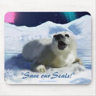 Cojín de ratón anti de la Sello-Caza de la foca de Tapetes De Ratón