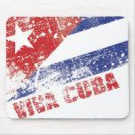 Cojín de ratón apenado bandera de Viva Cuba Tapete De Ratones