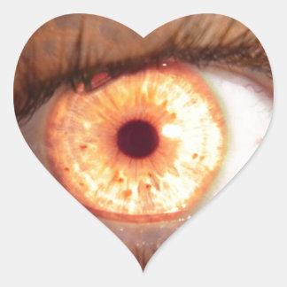 Cojín de ratón ardiente del ojo del mutante pegatina en forma de corazón
