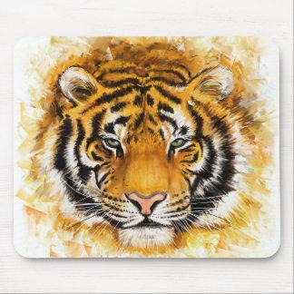 Cojín de ratón artístico de la cara del tigre mousepad