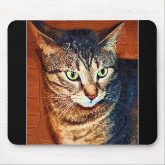 Cojín de ratón artístico hermoso del gato de Tabby Tapete De Raton