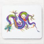 Cojín de ratón asiático oriental del tatuaje del d tapetes de raton