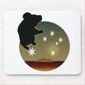 Cojín de ratón australiano del icono de la koala alfombrilla de raton