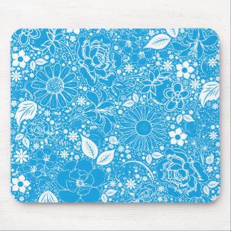 Cojín de ratón azul claro de las bellezas botánica tapetes de raton