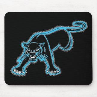 Cojín de ratón azul de la pantera alfombrillas de raton