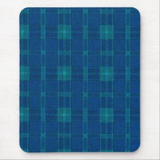 Cojín de ratón azul de la tela escocesa tapete de ratones