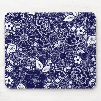 Cojín de ratón azul de las bellezas botánicas tapete de ratones
