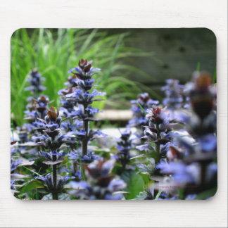 Cojín de ratón azul de las flores salvajes tapetes de ratones