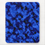 Cojín de ratón azul del camuflaje tapete de ratón