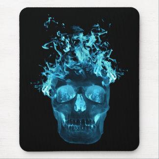 Cojín de ratón azul del cráneo del fuego alfombrillas de ratones