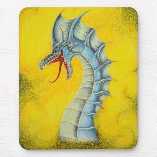 Cojín de ratón azul del dragón alfombrillas de ratones