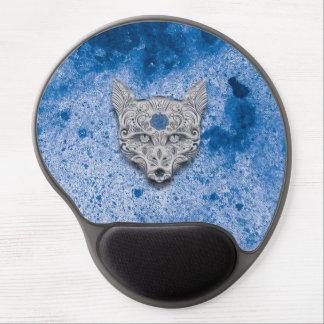 Cojín de ratón azul del gel del cráneo del azúcar alfombrillas con gel