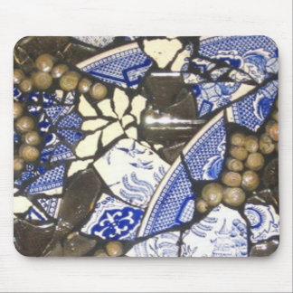 Cojín de ratón azul del mosaico del sauce tapetes de raton
