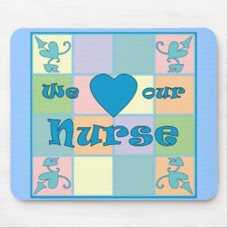 Cojín de ratón (azul) del remiendo de la enfermera mouse pads