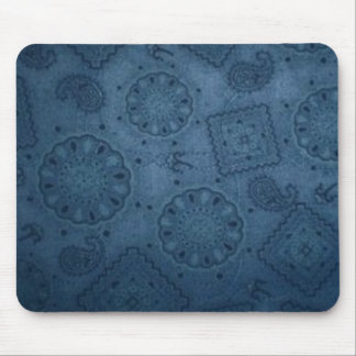 Cojín de ratón azul occidental del pañuelo tapetes de raton