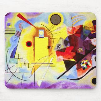 Cojín de ratón azul rojo amarillo de Kandinsky Tapete De Raton