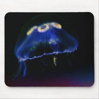 Cojín de ratón azul y amarillo de las medusas mousepad