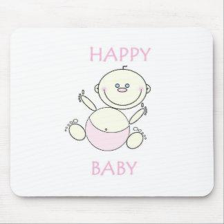 Cojín de ratón, bebé feliz tapete de raton