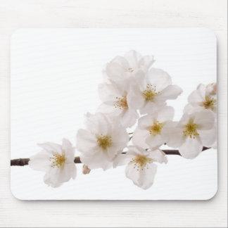 Cojín de ratón blanco bonito de las flores de cere alfombrillas de ratón