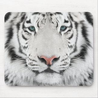Cojín de ratón blanco de la cabeza del tigre tapetes de ratones