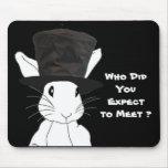 Cojín de ratón blanco del conejo alfombrilla de raton