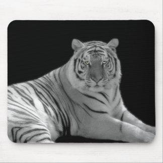 Cojín de ratón blanco del tigre alfombrilla de raton