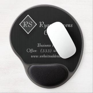 Cojín de ratón blanco negro elegante del gel de la alfombrillas de ratón con gel
