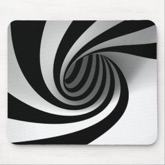 Cojín de ratón blanco y negro abstracto llamativo alfombrillas de ratones