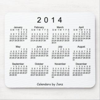 Cojín de ratón blanco y negro de 2014 calendarios alfombrilla de ratones