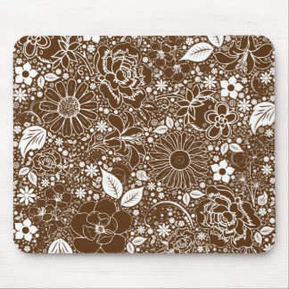 Cojín de ratón botánico de Brown de las bellezas