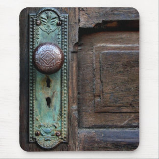 Cojín de ratón - botón de puerta viejo por Juana Tapete De Raton