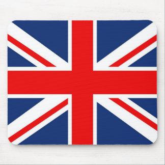 Cojín de ratón británico de la bandera tapete de ratón