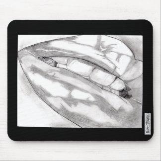 Cojín de ratón caliente de los labios mouse pad