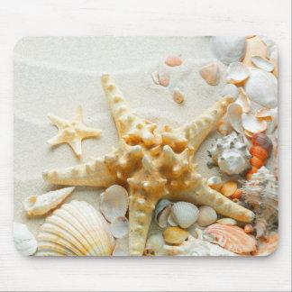 Cojín de ratón/cáscaras del mar tapetes de raton