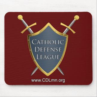 Cojín de ratón católico de la liga de la defensa tapete de ratones