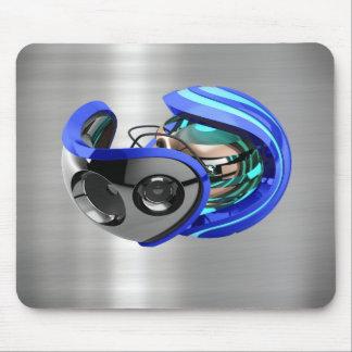 cojín de ratón cepillado AZUL de la impresión del Alfombrilla De Raton