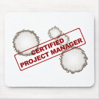 Cojín de ratón certificado del gestor de proyecto tapetes de raton