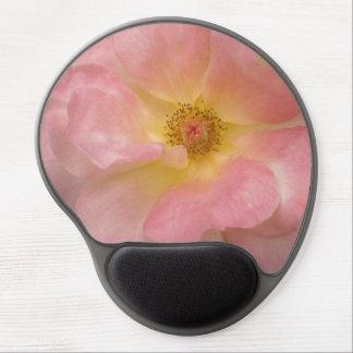 Cojín de ratón color de rosa de la floración alfombrillas de raton con gel