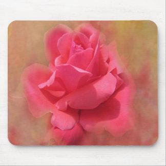 Cojín de ratón color de rosa elegante encantador tapetes de raton