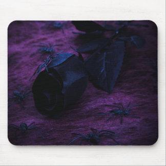 Cojín de ratón color de rosa negro alfombrilla de raton