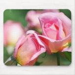 Cojín de ratón color de rosa rosado del brote alfombrilla de ratón